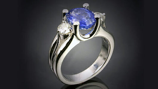 Bostonian Three Stone Sapphire Ring