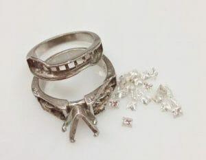resetting a diamond ring