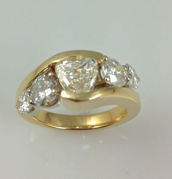 Five Stone Diamond Ring Remount