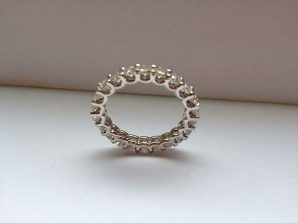 U Shaped Diamond Eternity Band