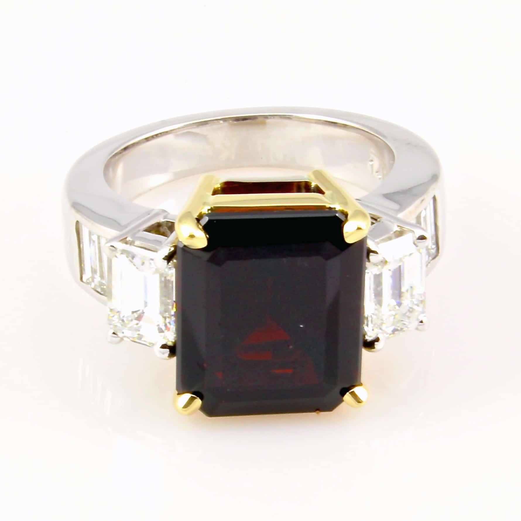 Custom Design Garnet Birthstone Ring