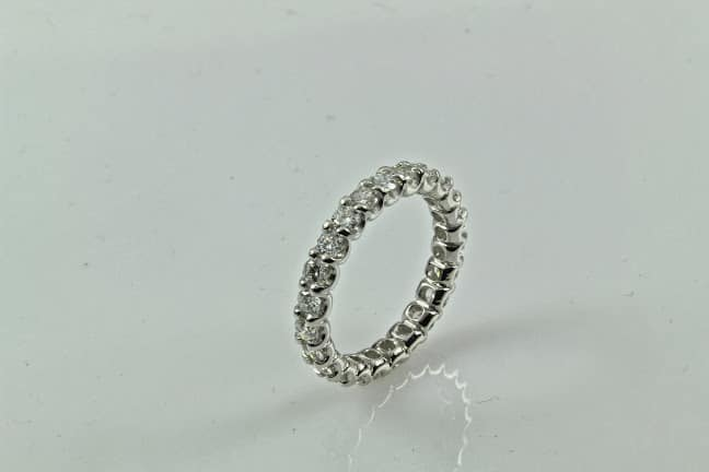 Platinum Eternity Diamond Wedding Band