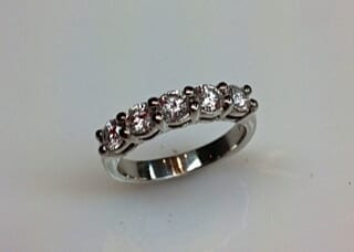 Classic 5 Stone Diamond Wedding Ring