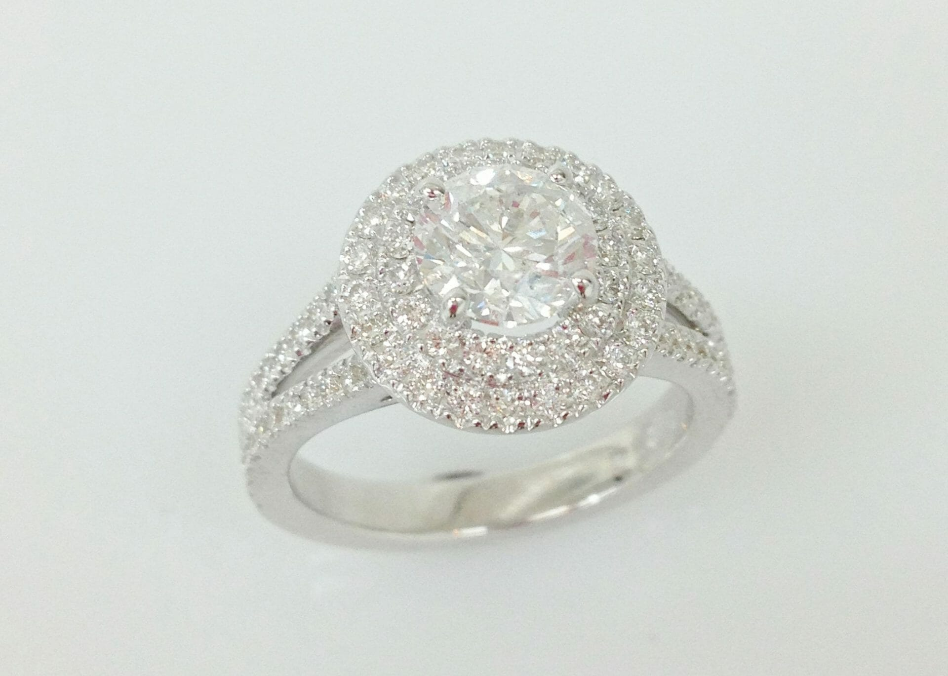 round diamond rings engagement viejo single band aliso double bridal ring wedding halo stone three