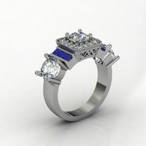 square-halo-diamond-sapphire-ring-2