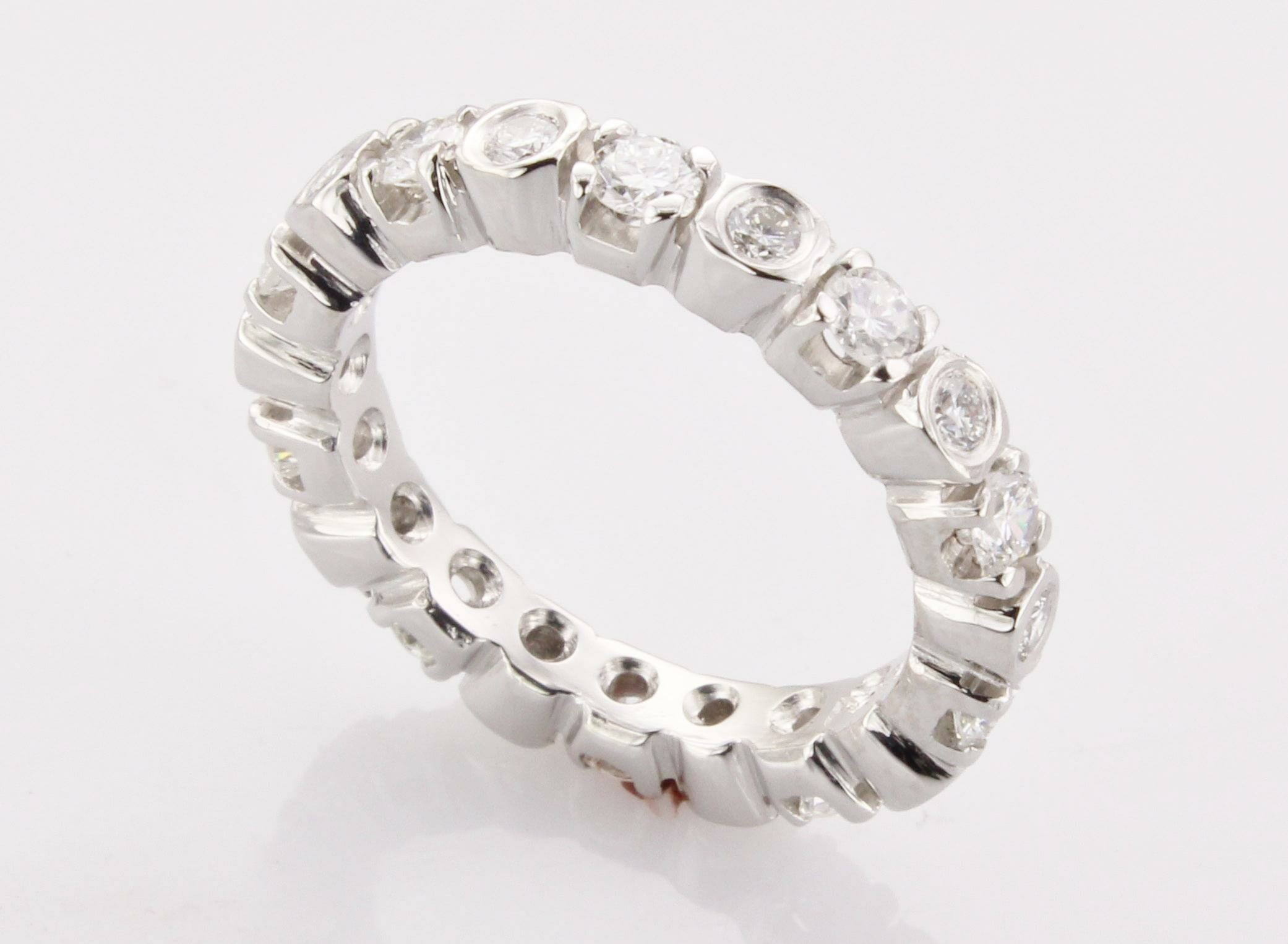 women s platinum eternity band made in boston ma