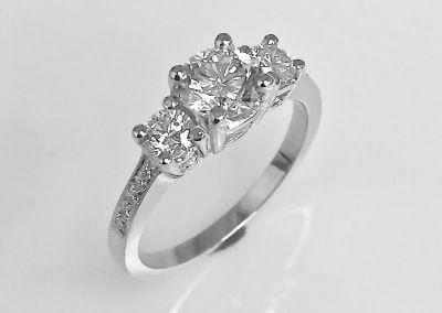 Kasey's Three Stone Diamond Engagement Ring