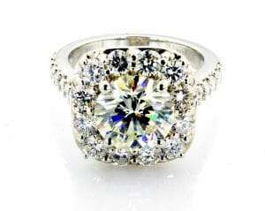 Andrea Halo Engagement Ring Side View