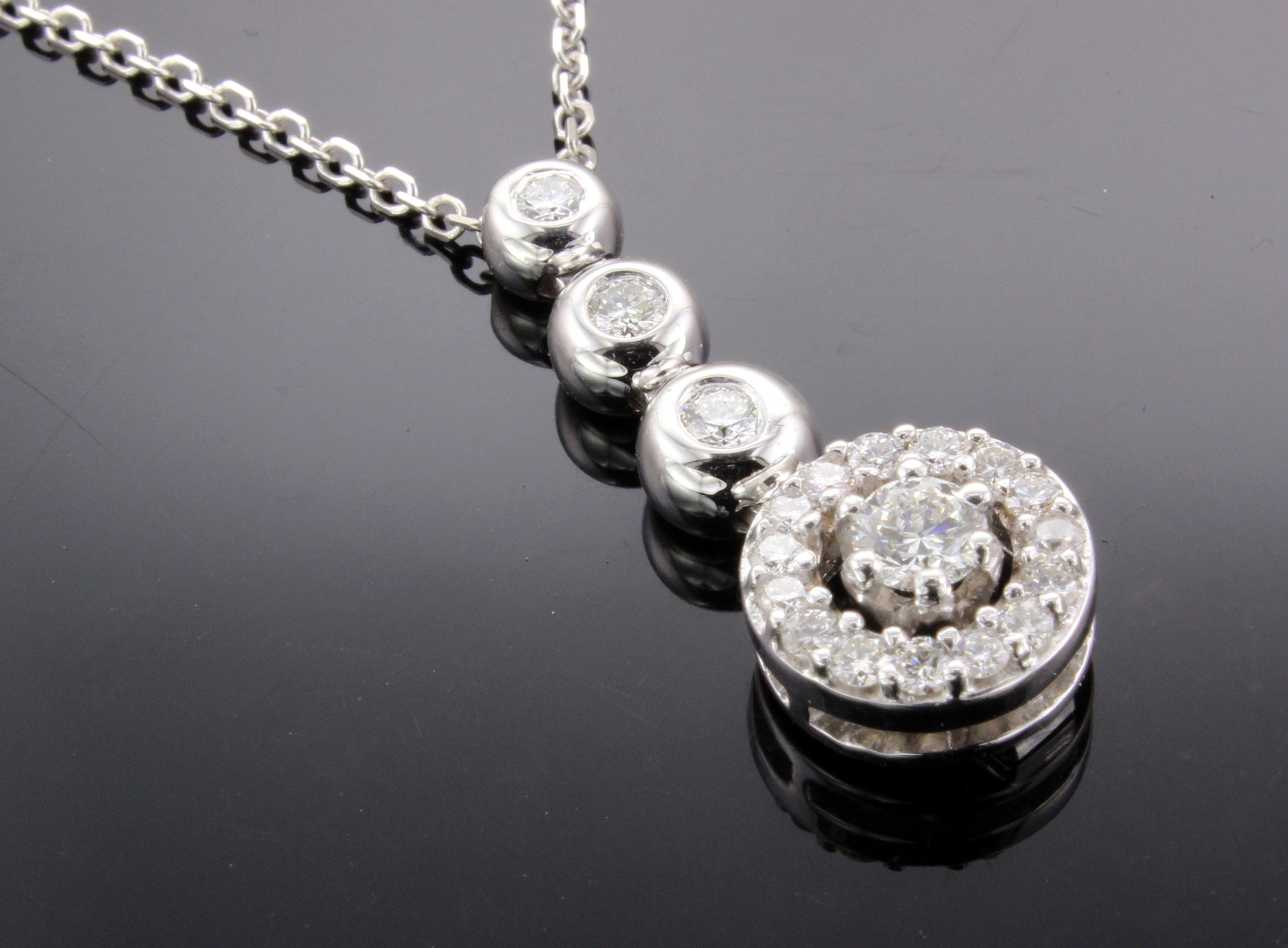 Lizzy Diamond Pendant Necklace