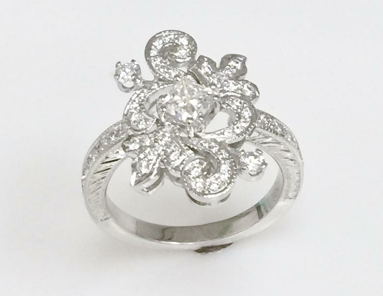Vintage Inspired Ring by Keezing Kreations