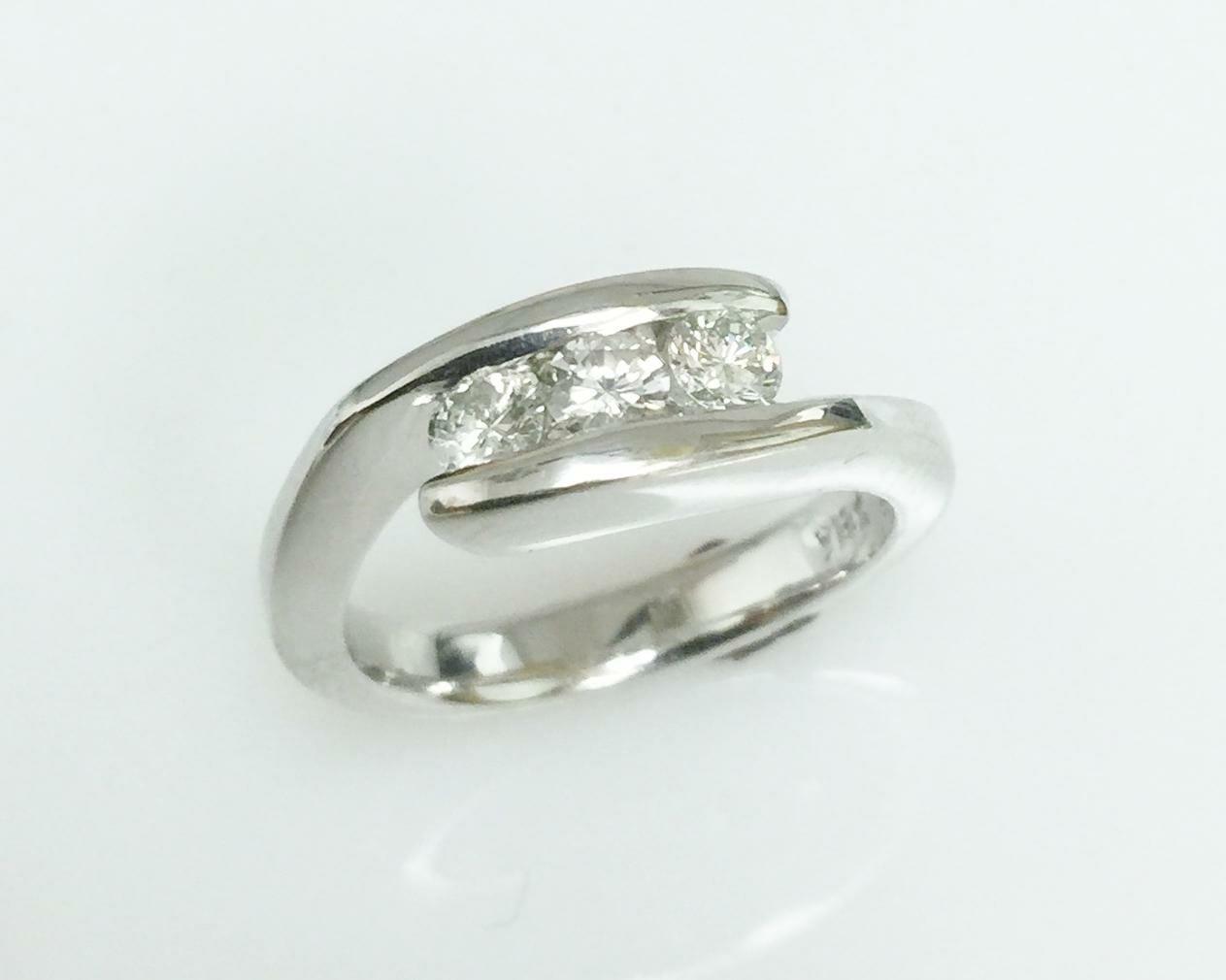Stone Diamond Victorian Ring