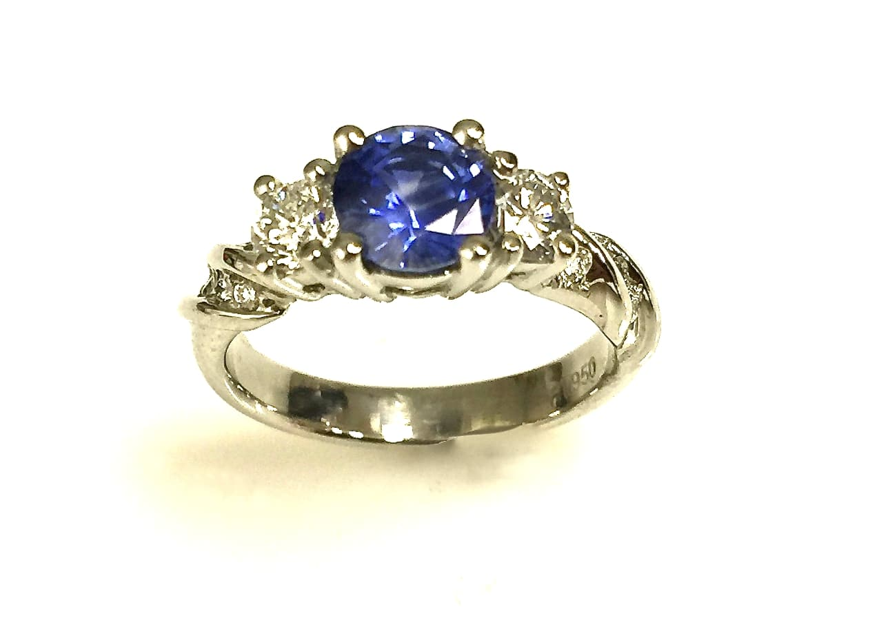 Barbara blue sapphire and diamond ring