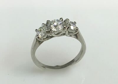 Brenna Three Stone Round Diamond Ring