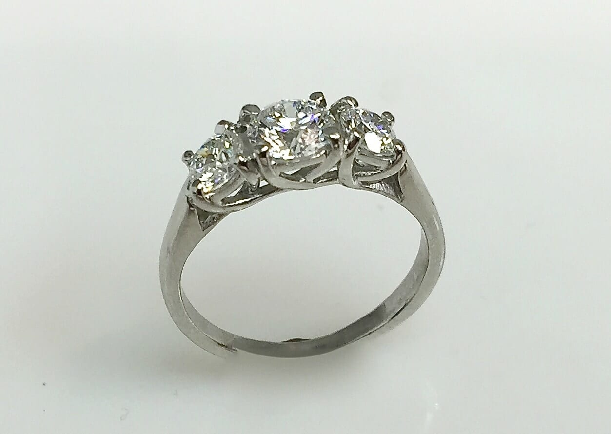 Brenna Three Stone Diamond Ring
