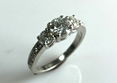 Christy Marie Three Stone Ring