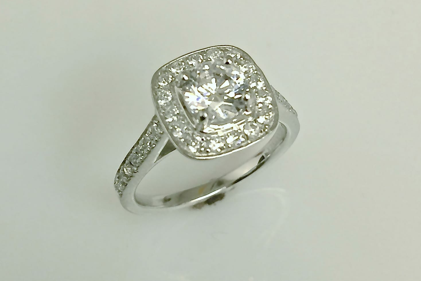 Doris Cushion Halo Engagement Ring