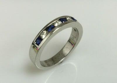 Gabby Blue Sapphire Diamond Ring
