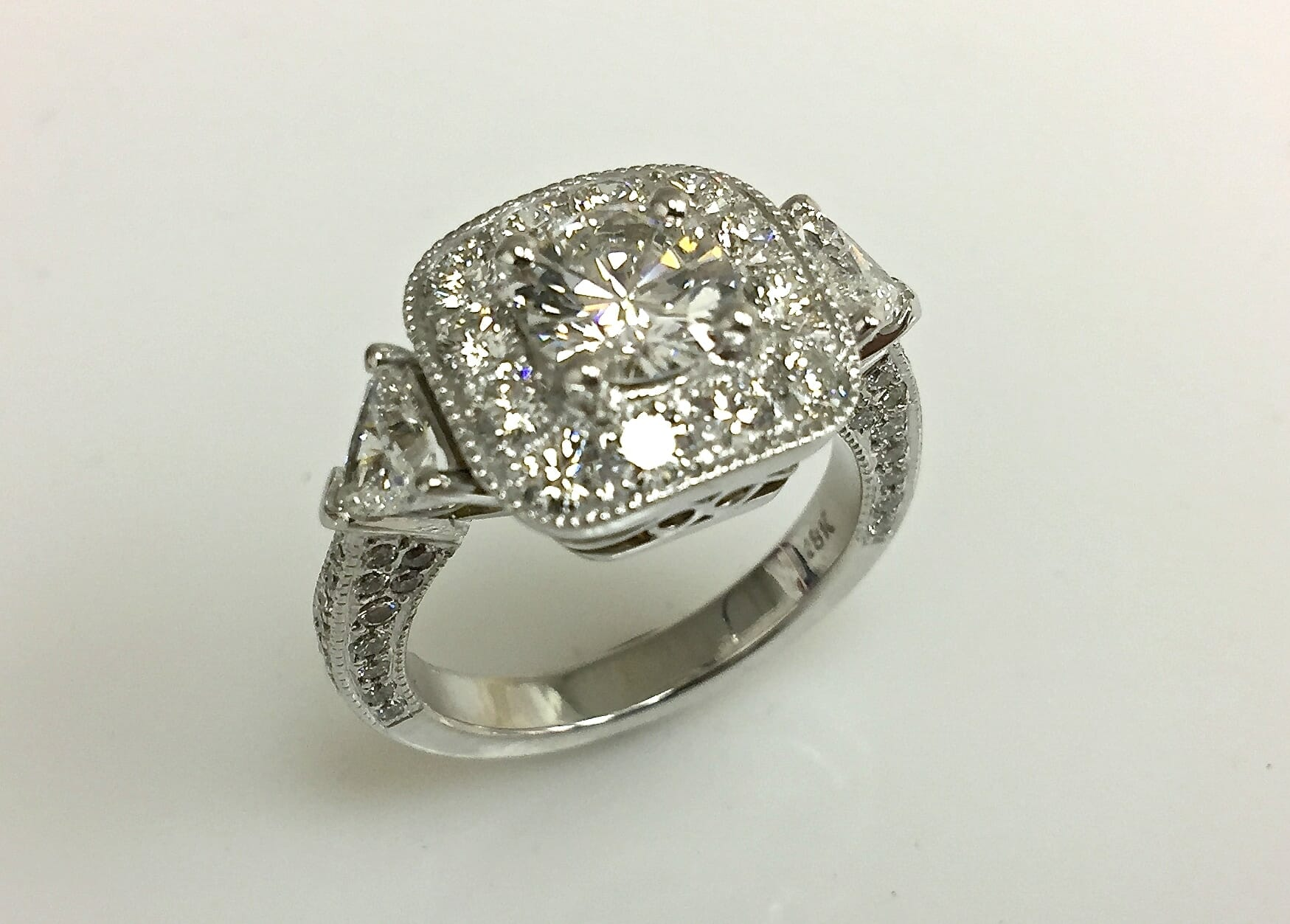 Mimi Diamond Halo Engagement Ring