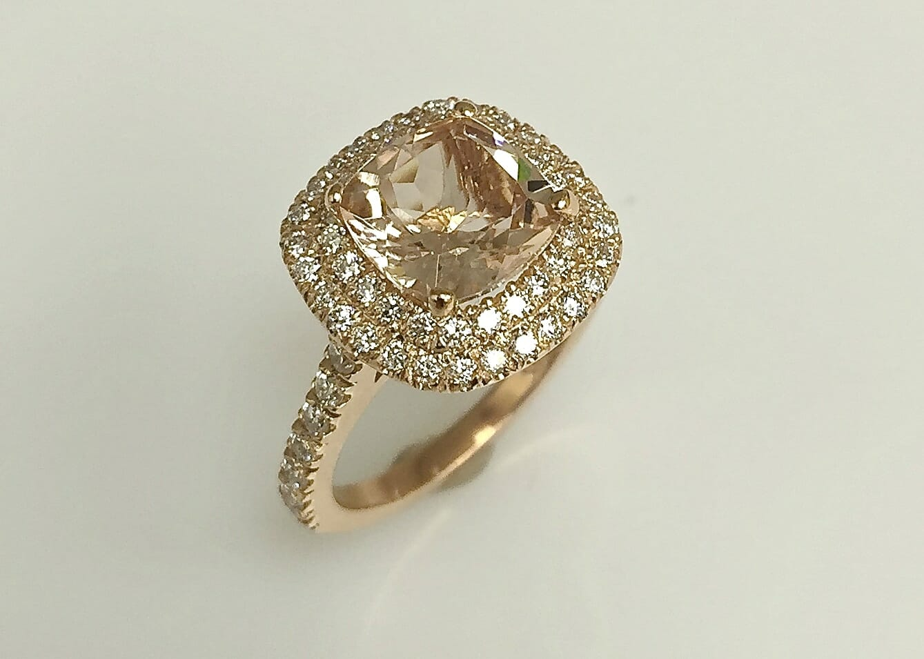 Tiffany Rose Gold Diamond Halo Ring