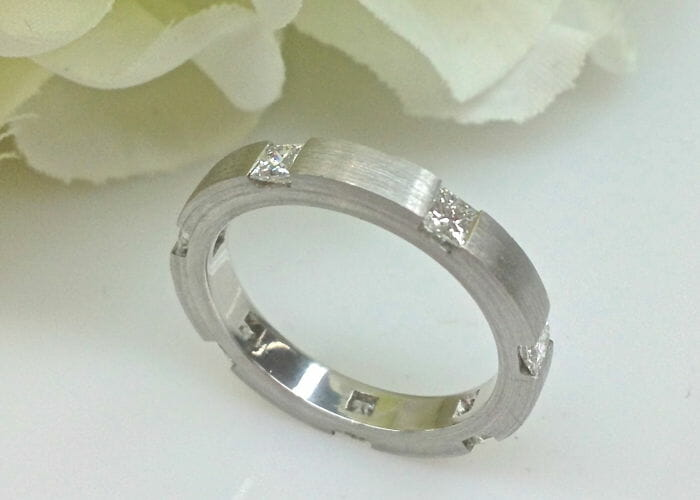 Irina White Gold Diamond Eternity Wedding Band