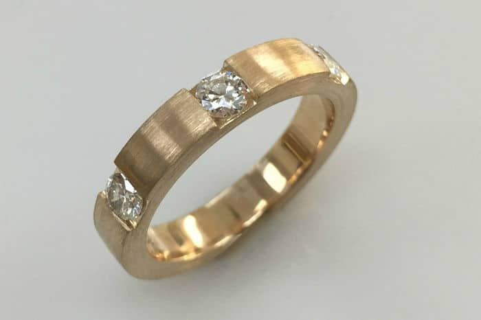 mimi yellow gold diamond wedding band