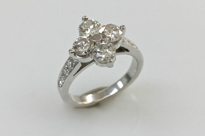 Whitney north south east west engagement ring