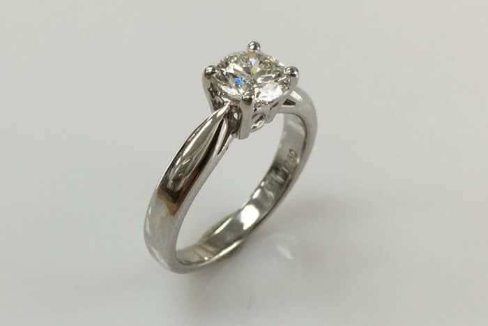kathryn solitaire diamond engagement ring side view