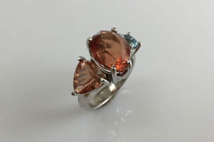 leanne aquarmine and sunstone white gold ring