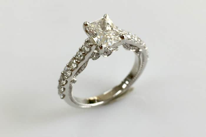 tiana cushion cut diamond ring