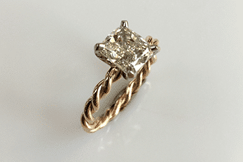 Christine Cushion Cut Diamond Ring