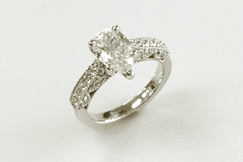 Heather Pear Diamond Engagement Ring