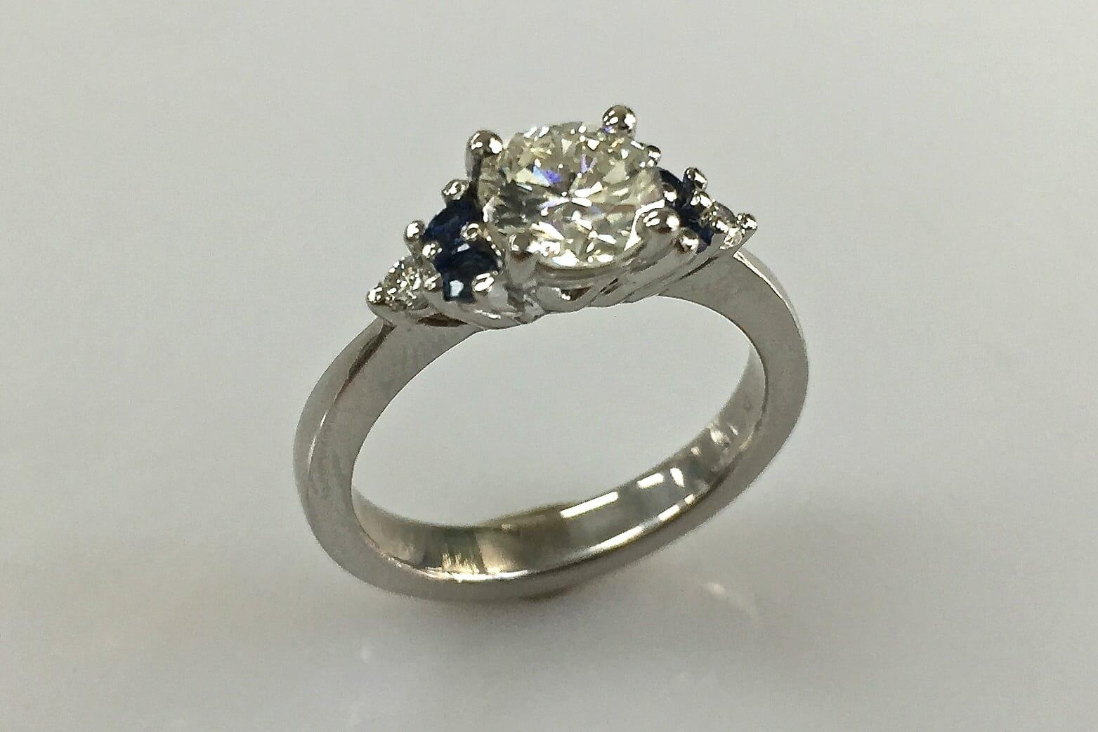 katherine platinum sapphire and diamond ring