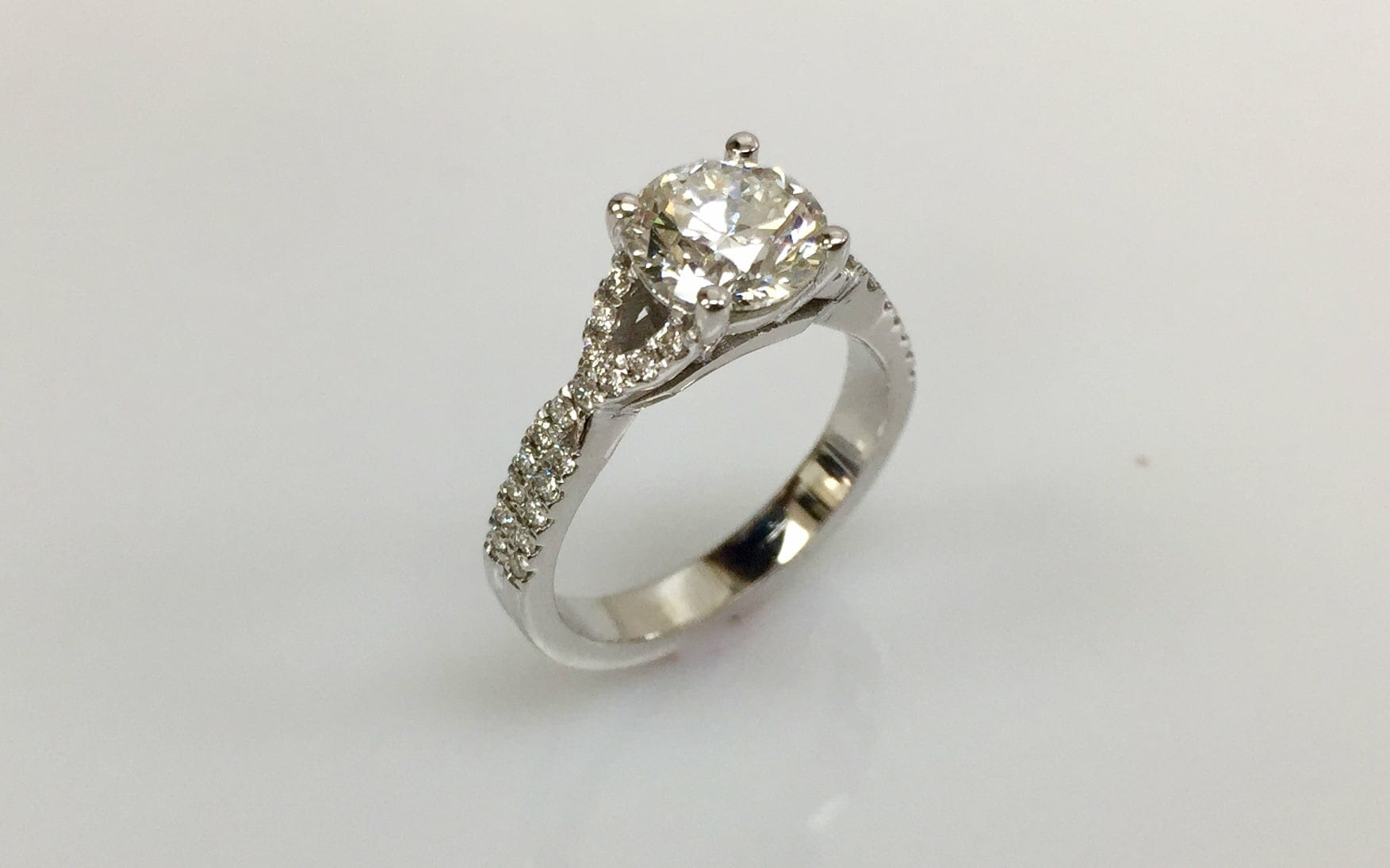 Darryl Diamond Weave Shank Engagement Ring