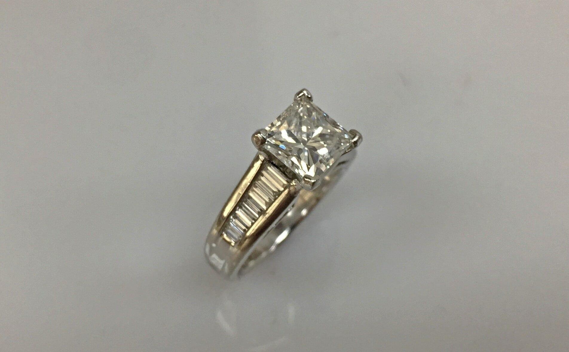 Greilyn Two Carat Princess Cut Diamond Ring