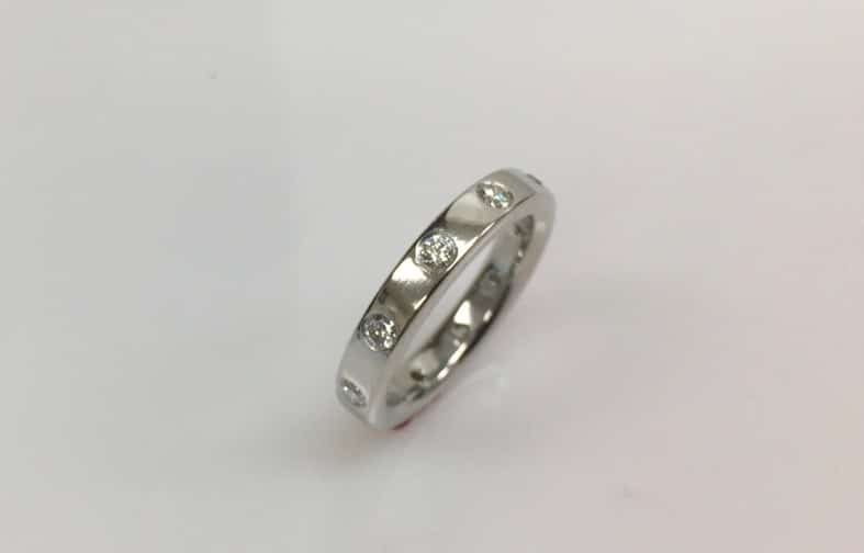 Adriana Ladies Platinum Eternity Band