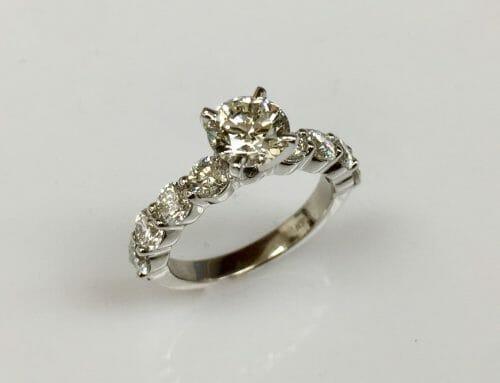 Sheila 14K White Gold Diamond Engagement Ring