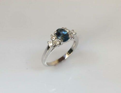 Nelle Platinum Three Stone Emerald Ring