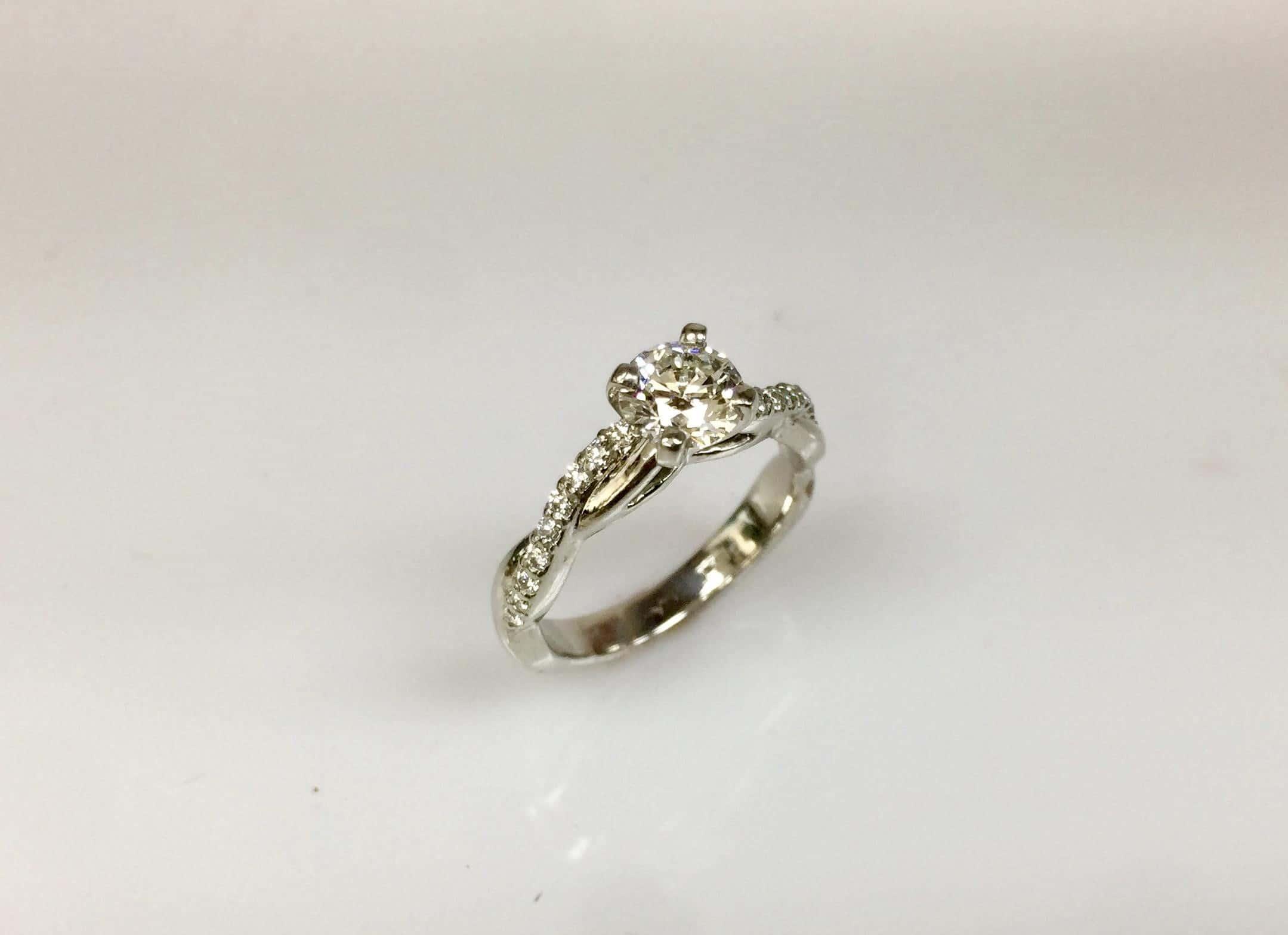 Torre Platinum Diamond Engagement Ring