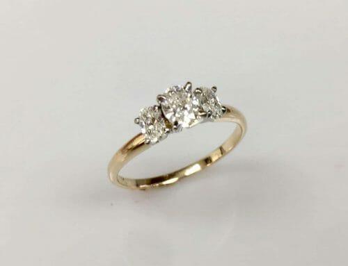 Dawn Three Stone Diamond Engagement Ring